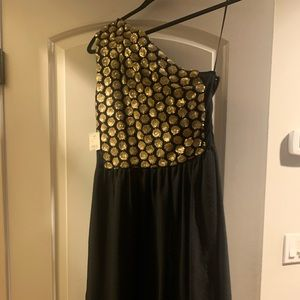 Rachel Roy Black and Gold dress new with tags
